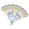 Vector clipart: hand fan