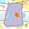 Vector clipart: bird card