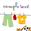 Vector clipart:  clothes and toys