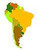 Vector clipart: South America map