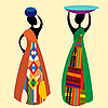 Vector clipart: Traditional african women