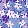 Background with flowers in blue | Stock Vector Graphics