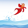 Vector clipart: red fish
