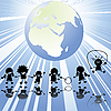Vector clipart: Children and Earth