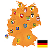 Vector clipart: map of Germany