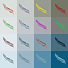 Vector clipart: Feathers background