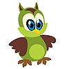 Vector clipart: Funny owl