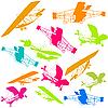 Векторный клипарт: Самолеты