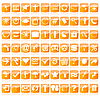 Vector clipart: web buttons in orange tones