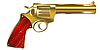 Vector clipart: Golden gun