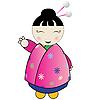 Vector clipart: Japanese doll