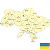 Vector clipart: Map of Ukraine