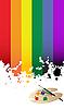 Vector clipart: Rainbow flag