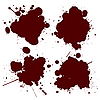 Vector clipart: Blood blots