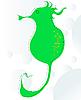 Vector clipart: Seahorse