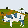 Vector clipart: Pig