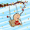 Vector clipart: Swinging girl