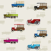 Vector clipart: Vintage cars pattern