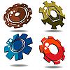 Vector clipart: 3d gears