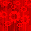 Vector clipart: background with red flowers