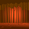 Vector clipart: dark forest landscape