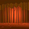 Векторный клипарт: темный лес