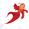 Векторный клипарт: Красная рыбка