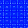 Photo 300 DPI: Blue pattern with floral decorations