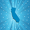 Blue California map