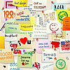 Vector clipart: College ads wall