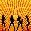 Vector clipart: girls