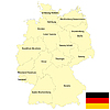 Germany map | Stock Vector Graphics