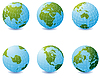 Earth globe icons | Stock Vector Graphics