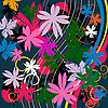 Vector clipart: Floral composition
