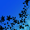 Photo 300 DPI: Flowers silhouettes background