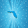 Blue map of Florida