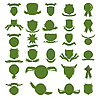 Vector clipart: Green shields
