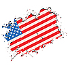 Vector clipart: Grunge USA flag