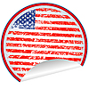 Vector clipart: USA label