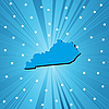 Vector clipart: Blue Kentucky map