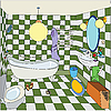 Little bathroom | Stock Illustration