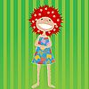 Vector clipart: Beautiful little girl