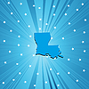 Vector clipart: Blue map of Lousiana