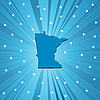 Vector clipart: Blue Minnesota map