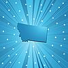 Vector clipart: Blue Montana map