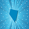 Vector clipart: Blue Nevada map