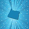 Vector clipart: Blue Oregon map