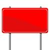 Vector clipart: Red billboard