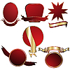 Vector clipart: Red shields