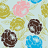 Vector clipart: roses pattern